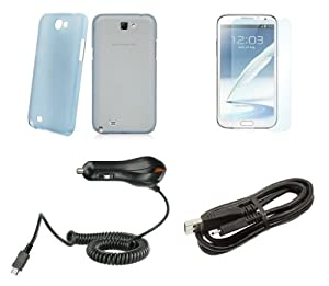 Amazon.com: Samsung Galaxy Note 2 - Accessory Kit - Frosted Clear Blue