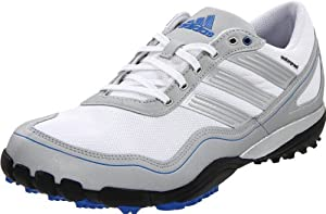 adidas Men's Puremotion Golf Shoe,White/Metallic Silver/Satellite,11.5 M US