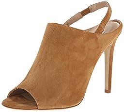 Diane von Furstenberg Women\'s Violet Dress Sandal, Tan Kid Suede, 8.5 M US
