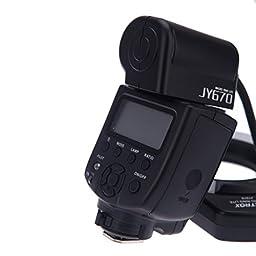 Kingzer JY-670 Professional Macro Ring Flash Light Lite Speedlite for Canon Nikon Camera