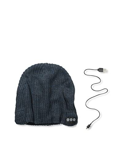 1 Voice Men's Bluetooth Beanie, Blue/Grey