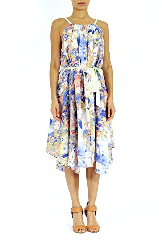 Indiatrendzs Women's Crepe Dress Multicoloured Printed Party Wear Dresses S