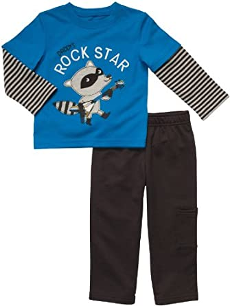 Carter's Infant Two Piece Pant Set - Daddy's Rockstar-3 Months