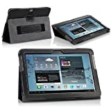 IVSO® Samsung Galaxy TAB 2 10.1 P5110 PU Leather Stand Cover Case (Black)