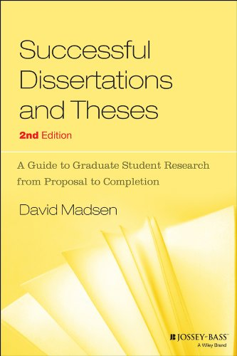 Successful Dissertations and Theses: A Guide to Graduate...