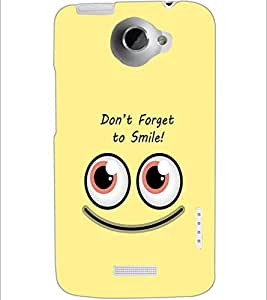 PrintDhaba Quote D-1974 Back Case Cover for HTC ONE X (Multi-Coloured)
