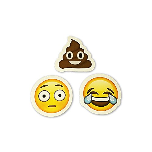 15-Big-Emoji-Stickers-Each-Over-2-Variety-of-Emojis-Halo-Smile-Faces-Poo-Cats-Set-1