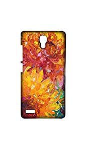 Beautiful Multicolor Floral Pattern Mobile Back Cover/Case For XIAOMI RED MI- NOTE (4G)
