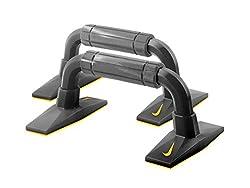 Nike AC3616F4-096 Push Up Pushup Grip, (Grey/Black/Bright Citrus)