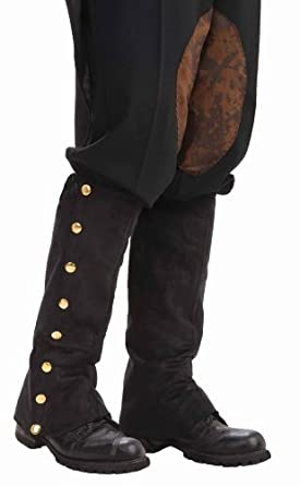 Forum Novelties Men's Adult Steampunk Suede Spats Costume Accessory, Black, One Size