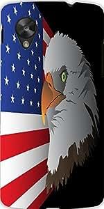 Snoogg Flag Background With Eagle Designer Protective Back Case Cover For Lg ...