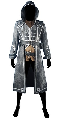[XYZcos Men's Dishonored Corvo Attano Outfit Hoodie Halloween Costume Size M] (Dishonored Assassin Costume)