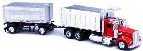 New15223 New-Ray - Kenworth W900 Double Dump Truck