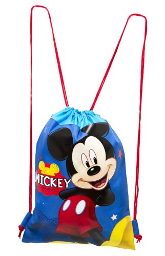 Blue Mickey Mouse Drawstring Backpack - Large Drawsting Bag - 1