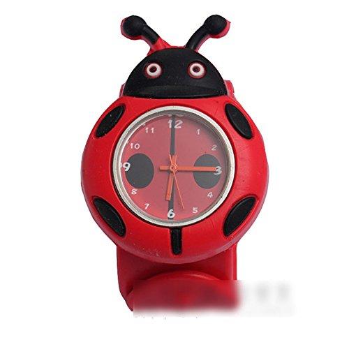Ddu(Tm) 1Pc 3D Cute Ladybird Type Silicone Band Quartz Watch Wristwatch Gift For Kids