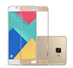 Plus Premium Arc Edge Full Body Tempered Glass Screen Scratch Guard Protector for Samsung Galaxy A7 (2016) - Gold