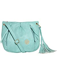 Lino Perros Women's Sling Bag (Turquoise)