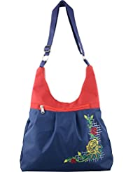 Her SPACE Women's Hand Bag (Navy Blue And Red) (Hs005)