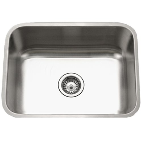 Best Price! Houzer STS-1300-1 Easton Single Bowl Undermount Stainless Steel Kitchen Sink, 23-3/16-by...
