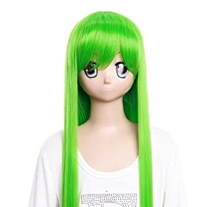 Cosplay Wigs Anime Wigs Cosplay green wig Geass Lelouch of the Rebellion CC long wigWigs Costume Wig for party