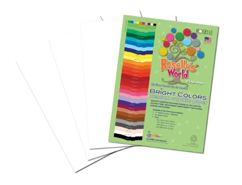 Roselle Bright Colors Suphite Construction Paper, 9 x 12 Inches, Bright White, 50 Sheets Per Package (76301) - 1
