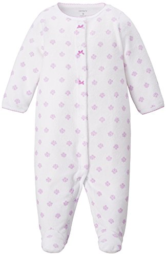 Carters Girls Baby Lilac Snap Up Sleep & Play 9 Month White/purple