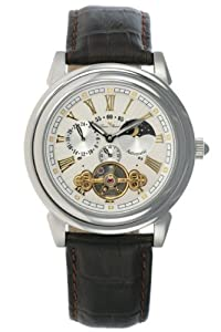 Lucien Piccard Men's Brown Leather Strap Watch