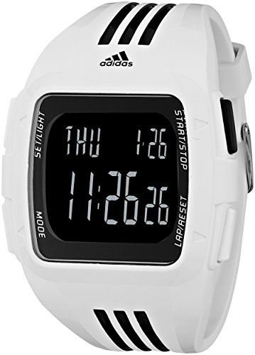 adidas Unisex ADP6091 Duramo XL Digital Watch with White Case and Strap
