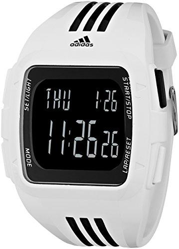 adidas Unisex ADP6091 Duramo XL Digital Watch with White Case and Strap