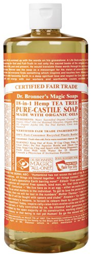 Dr. Bronner'S Magic Soaps Pure-Castile Soap, 18-In-1 Hemp Tea Tree, 32-Ounce front-59104