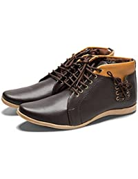 AXONZA Mens Brown Casual Boots Shoes