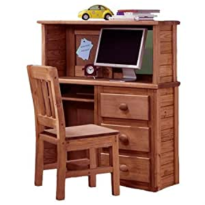 3 drawer computer desk hutch keyboard tray mahogany by chelsea home furniture Home furniture on amazon