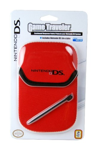 DSI/DSLite Game Traveler Pouch Nintendo DS Logo - Red