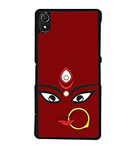 Maa Kali 2D Hard Polycarbonate Designer Back Case Cover for Sony Xperia Z2