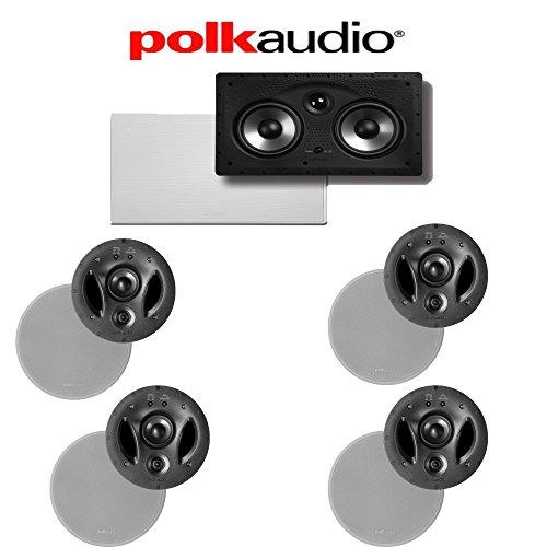 Polk Audio 700-LS + Polk Audio 255C-RT 5.0 Vanishing Series In-Ceiling / In-Wall Home Theater Speaker Package