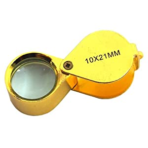 10X Eye Loupe Magnifier Gold Optical 21mm Jewelers Tool