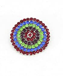 Trinketbag Circles brooch Multi colour for women