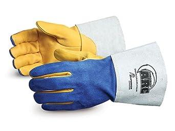 Superior 305GDSB Precision Arc Deerskin Leather TIG Welding Glove, Work, Medium, Blue (Pack of 1 Dozen)
