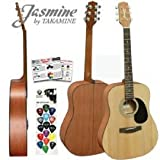 Takamine Guitar - NEW Jasmine by Takamine S35 Natural Dreadnought Acoustic Guitar