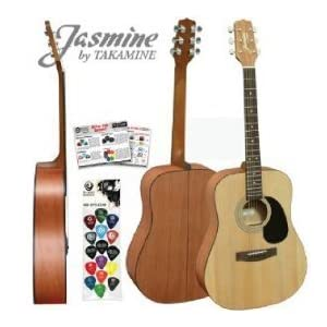takamine guitar new jasmine by takamine s35 natural dreadnought acoustic guitar. Black Bedroom Furniture Sets. Home Design Ideas