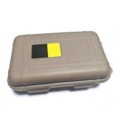 Vovotrade Outdoor Waterproof And Shockproof Storage Box Sealed Container Box (Small, Khaki) (Samsung Vacuum Tube compare prices)