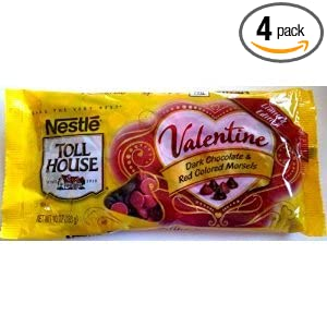 Nestle Toll House Valentine Dark Chocolate  amp  Red Colored Morsels Chips    Nestle Dark Chocolate Chips