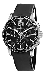 Maurice Lacroix Men's MI1098-SS041330 Miros Sport Black Chronograph Dial Watch from Maurice Lacroix