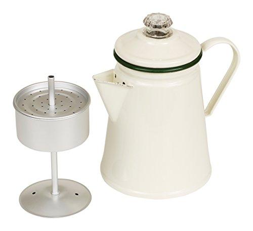 Cream Enamel Stovetop Coffee Percolator