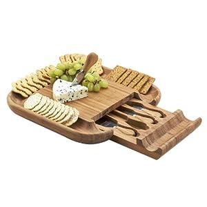 Picnic at Ascot Malvern Cheese Board Set, Bamboo
