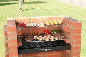BLACK KNIGHT BARBECUE BKB403 STAINLESS STEEL GRILL BBQ KIT + WARMING RACK + COVER+ STORAGE BAG