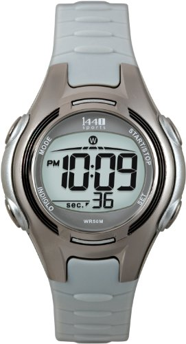 Timex Women's T5K085 1440 Sports Digital Gray Resin Strap Watch