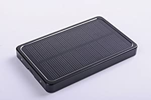 Bon Venu Solar Panel Charger 4000mAh Portable Charger External Battery Power Bank 0.7W,Input:DC 5V/500mA,Output:DC 5.5V/800mA for Usb-charged Devices,Metal material shel With Led light (Black) by Bon Venu,Inc.