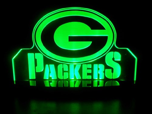 "Nfl Green Bay Packers Led Desk Lamp Night Light Beer Bar Bedroom Game Room Signs (3""X12""X6 Inches) front-465619"
