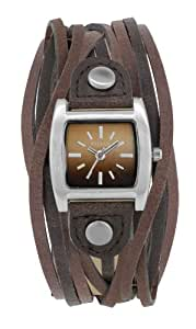Kahuna Women's Quartz Watch with Brown Dial Analogue Display and Brown Plastic or PU Strap KLS-0265L